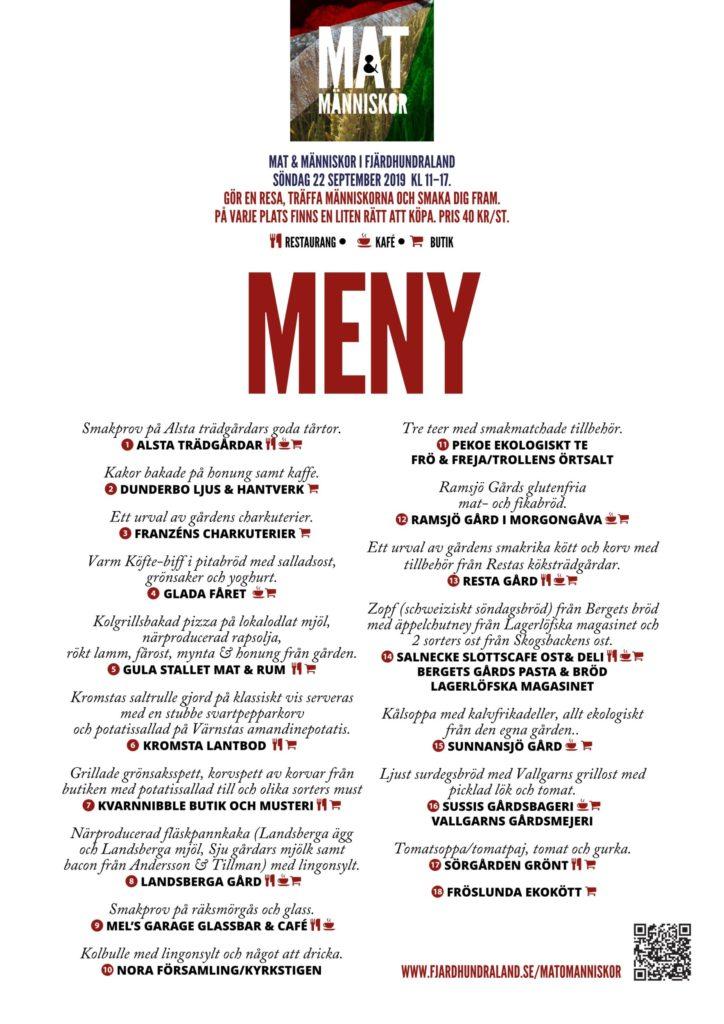 Mat & människor meny 2019