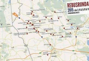 Startkort och karta Rebusrundan 2015