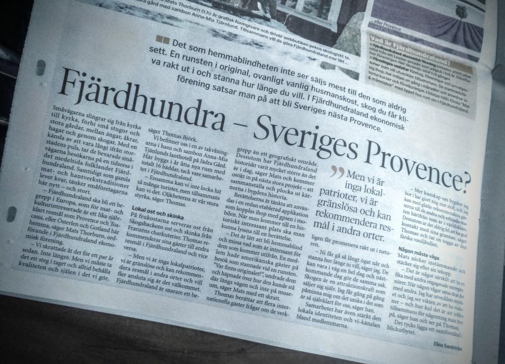 Article about Fjärdhundraland in the Ena-Håbotidningen