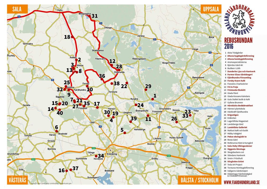 Map Rebus Round Sala Heby
