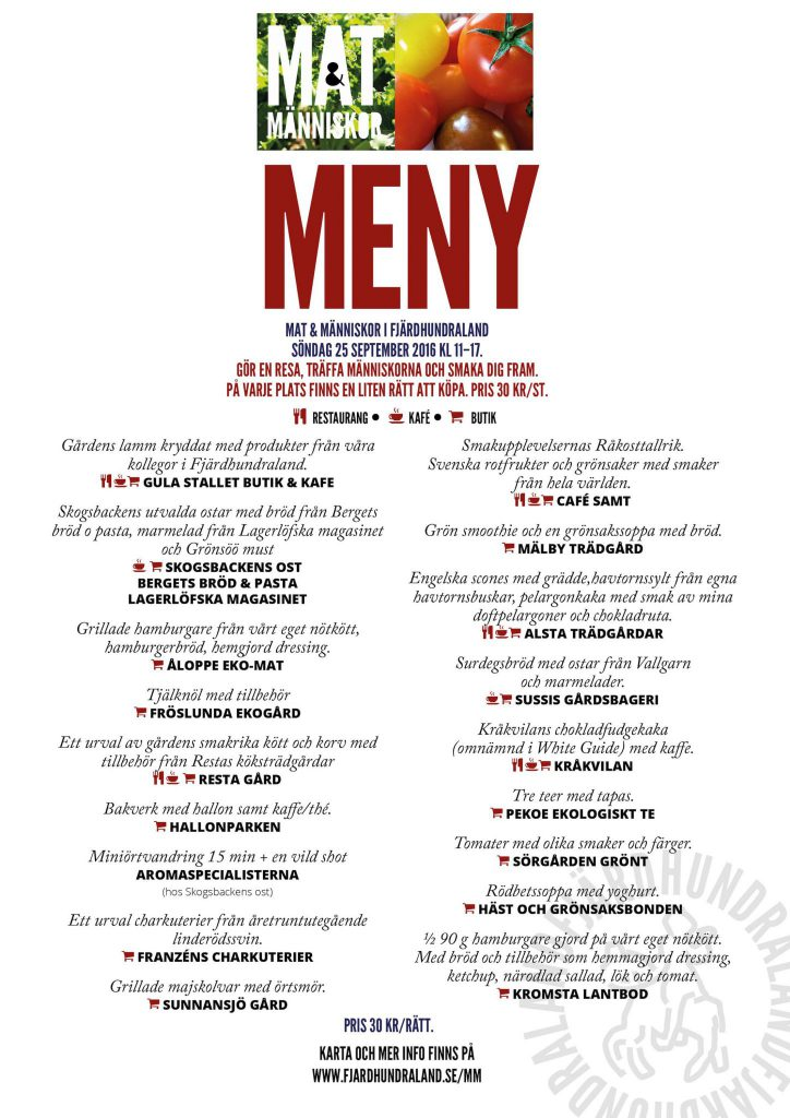 Food & people menu