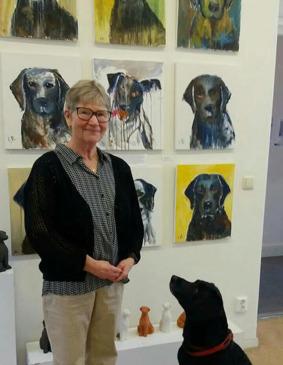 Broby gård: Inger Boström visar måleri och skulptur