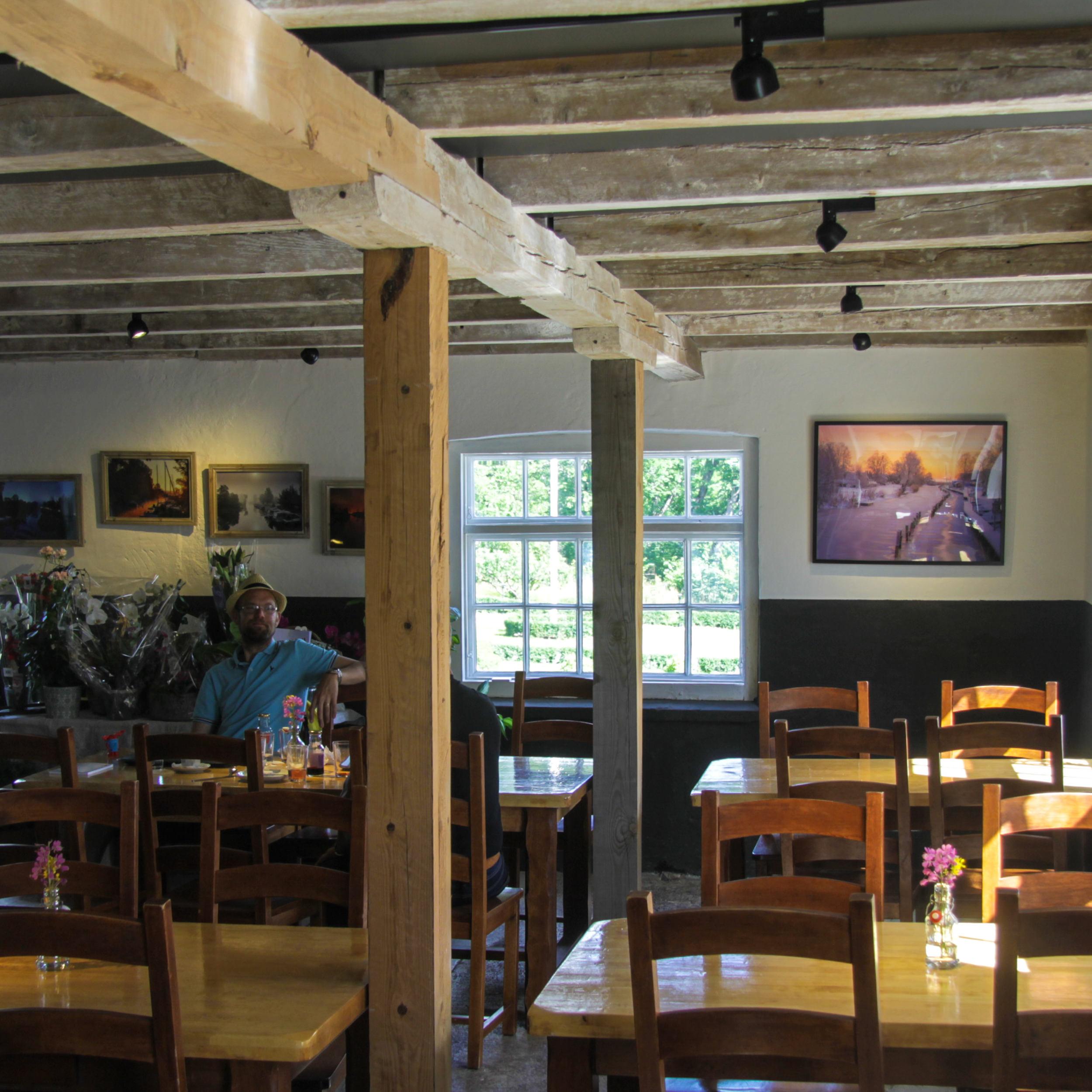 Salnecke castle cafe interior