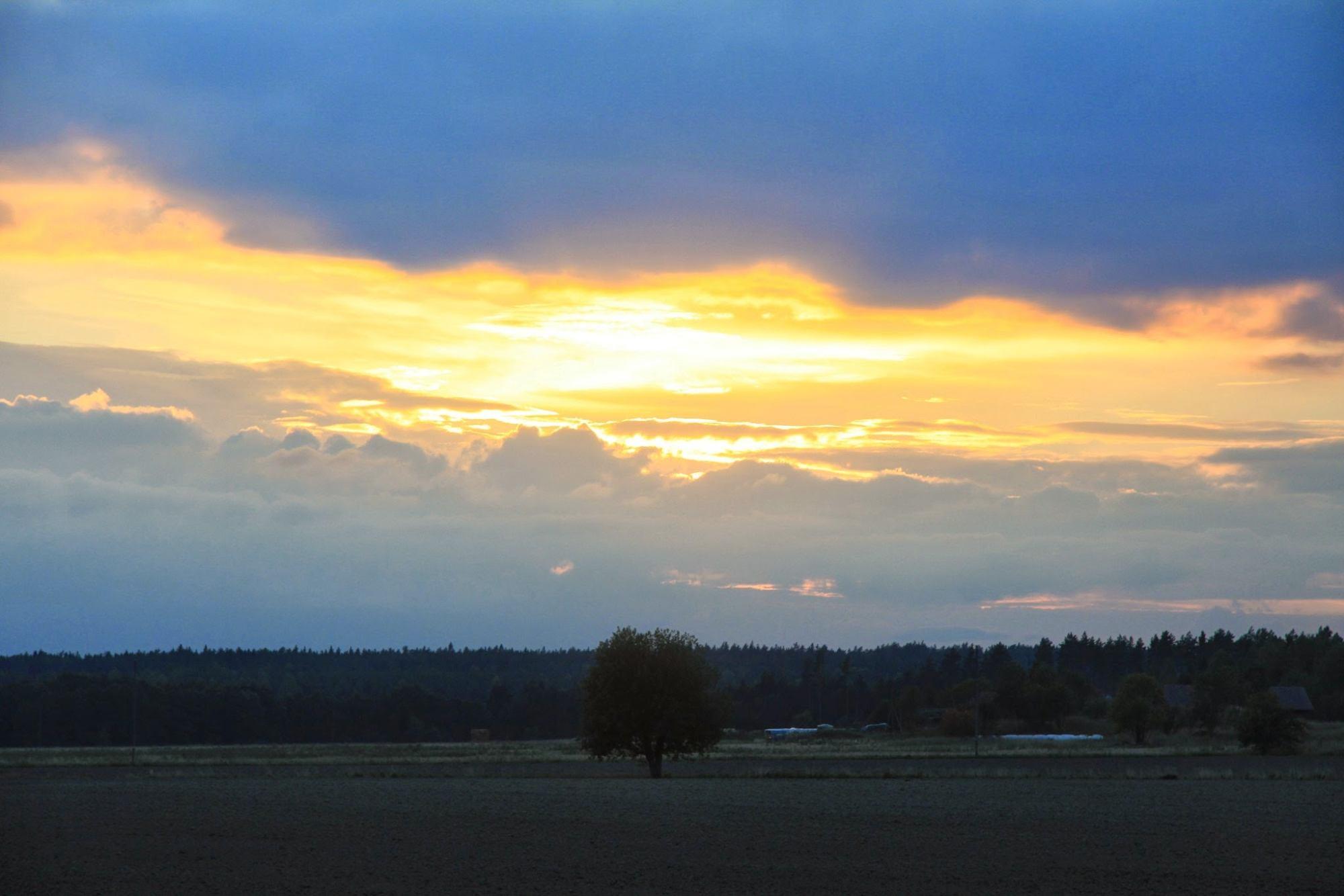 Fjärdhundraland solnedgång