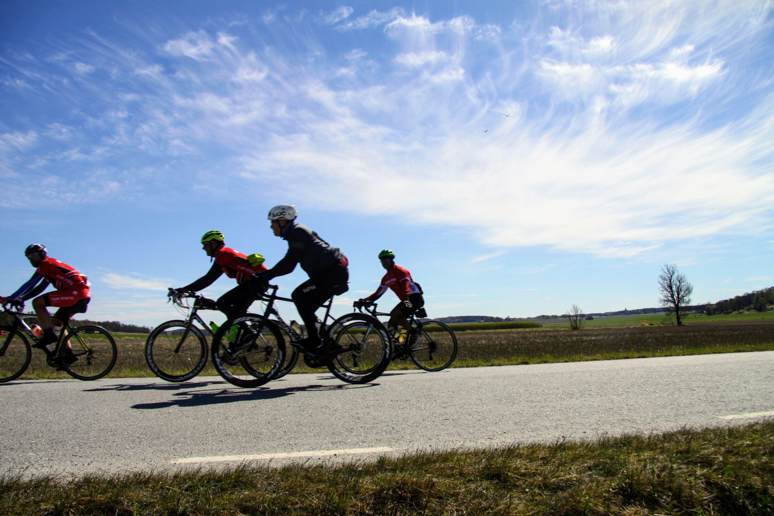 Cyclists in Fjärdhundraland