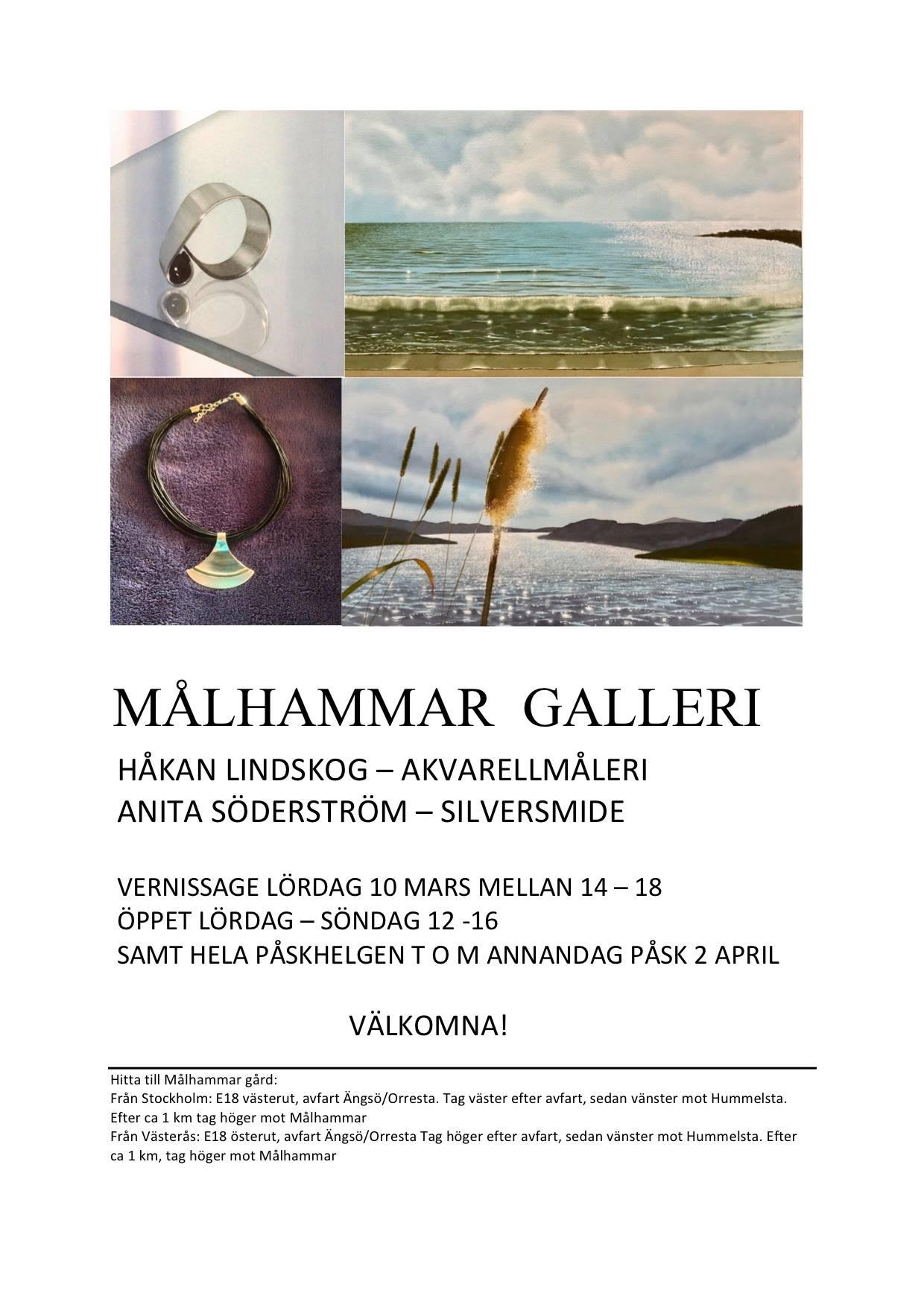 Målhammar galleri: Håkan Lindskog och Anita Söderström