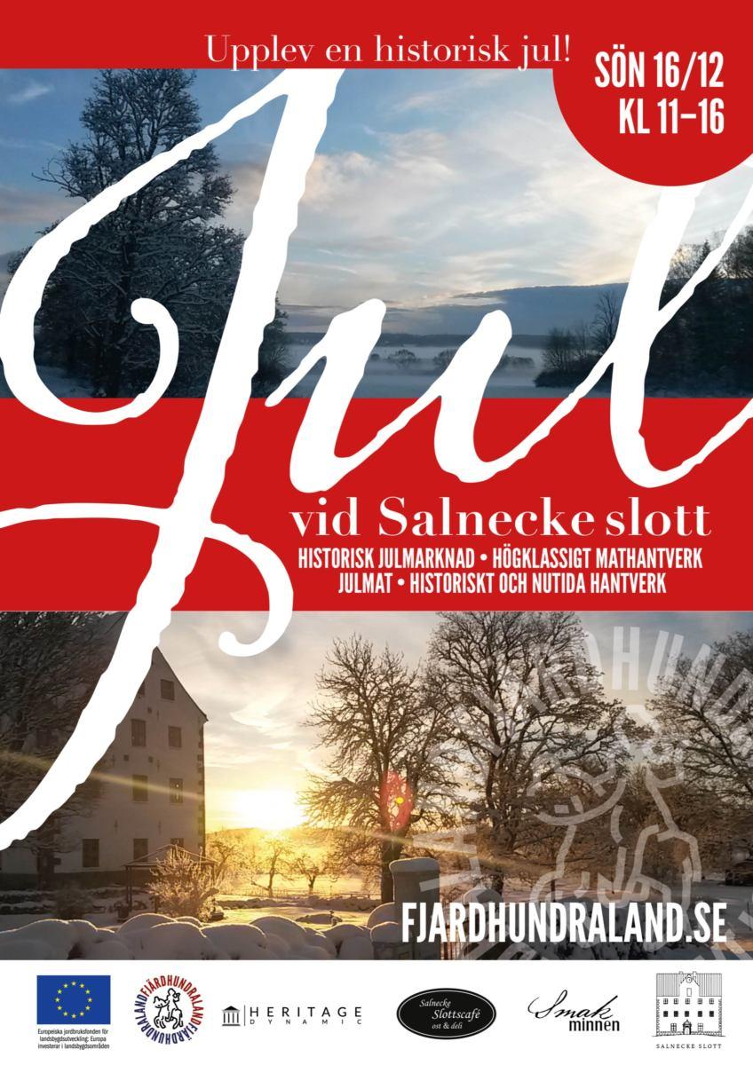 Affisch julmarknad Salnecke slott