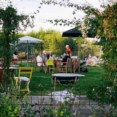 In the garden restaurant Hornudden