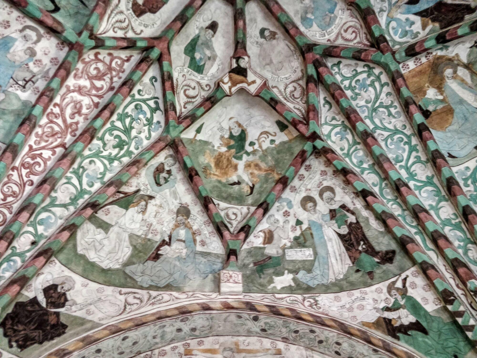 Härnevi kyrka, målningar av Albertus Pictor