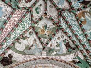 Härnevi church, paintings by Albertus Pictor