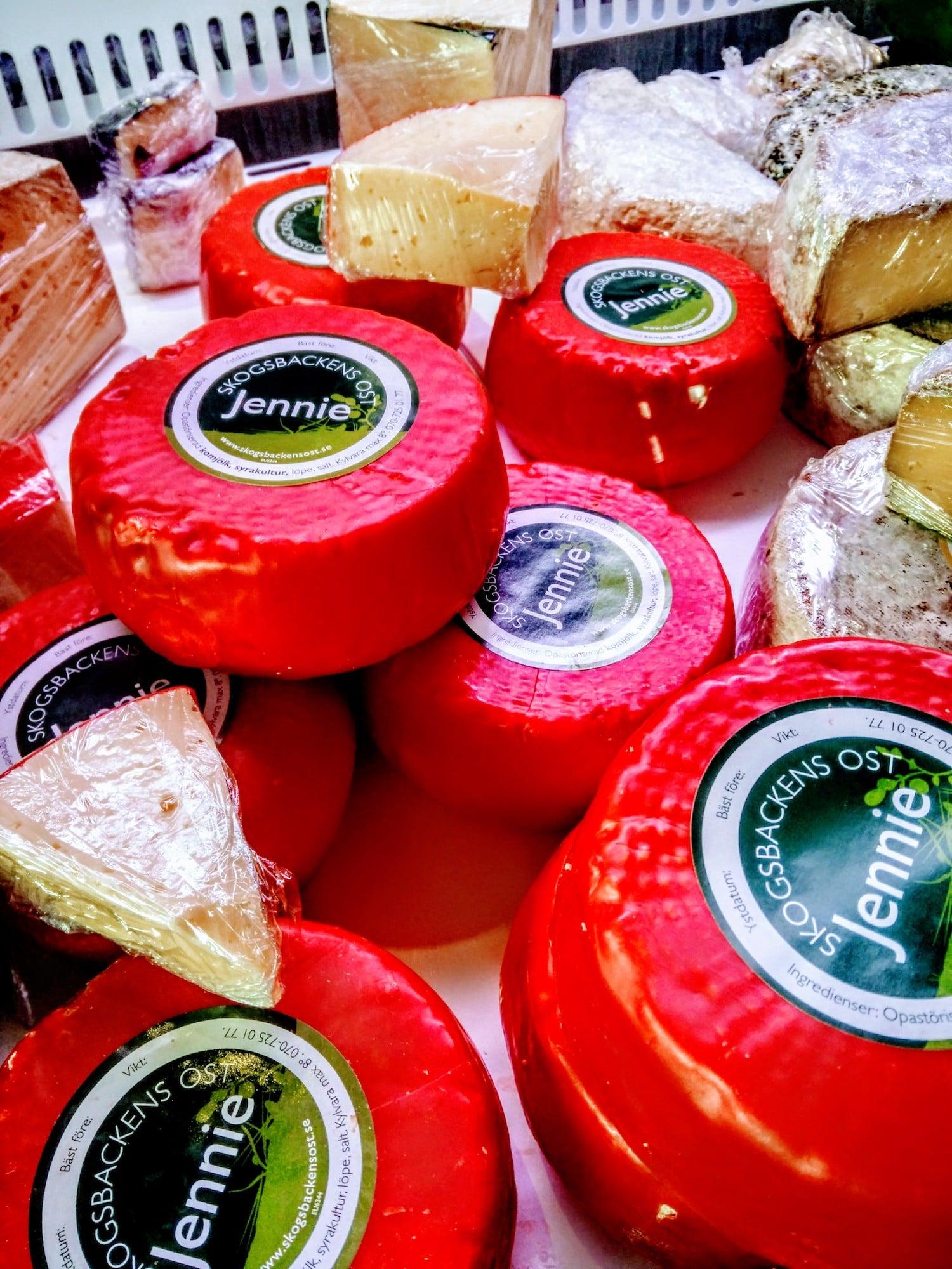 Ost från Skogsbackens ost på Salnecke slottscafé